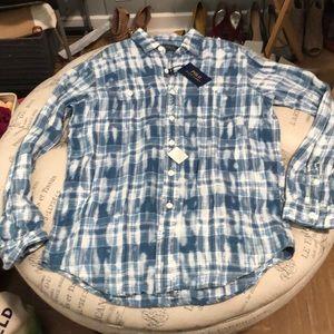 NWT Polo Ralph Lauren 100% Linen shirt size medium